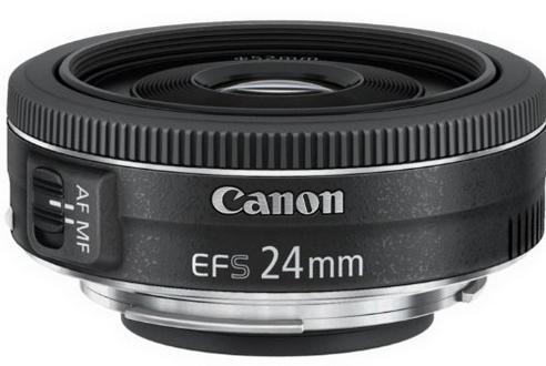 Objectif ultra-compact Canon ef-s 24mm f2.8 STM - Design Pancake (via ODR de 30€)