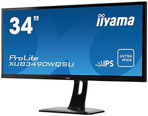 "Ecran PC 34"" Iiyama ProLite XUB3490WQSU-B1 - 3440x1440, LED AH-IPS, 5 ms"