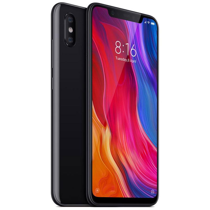 "Smartphone 6.21"" Xiaomi Mi8 (Noir ou Bleu) - 4G+ (B20), Full HD+, Snapdragon 845, ROM 64 Go, RAM 6 Go (Garantie européenne 2 ans - Via ODR de 30€)"
