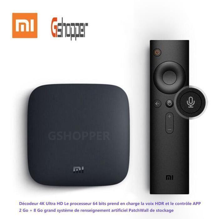 Box TV Android Xiaomi Mi Box 3 (Version internationale) - Android TV 6.0, 4K HDR, Amlogic S905, 2 Go de Ram, 8 Go (vendeur tiers expédiée par Cdiscount)