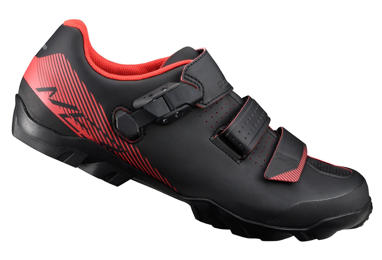Chaussures VTT Shimano Mountain Enduro ME3 - Noir/Rouge, Unisexe, Taille au choix