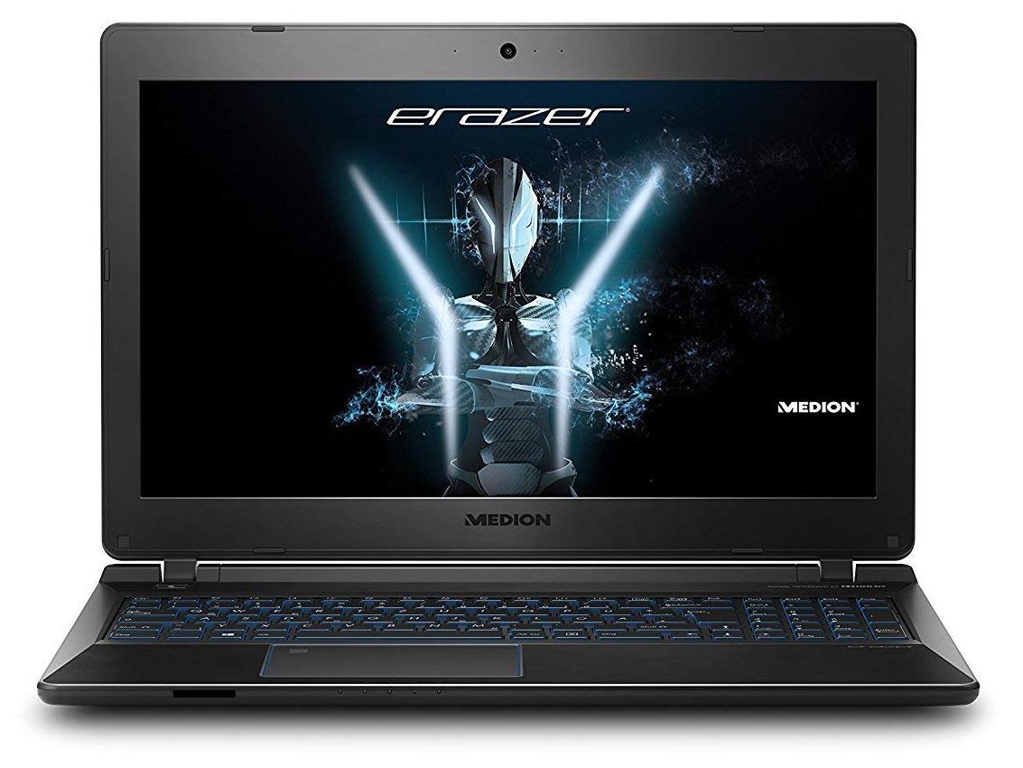 """PC Portable 15.6"""" Medion Erazer P6681 - i5-7200U, 16Go DDR4, 1To HDD, 256Go SSD, GeForce GTX 1050 4Go GDDR5"""