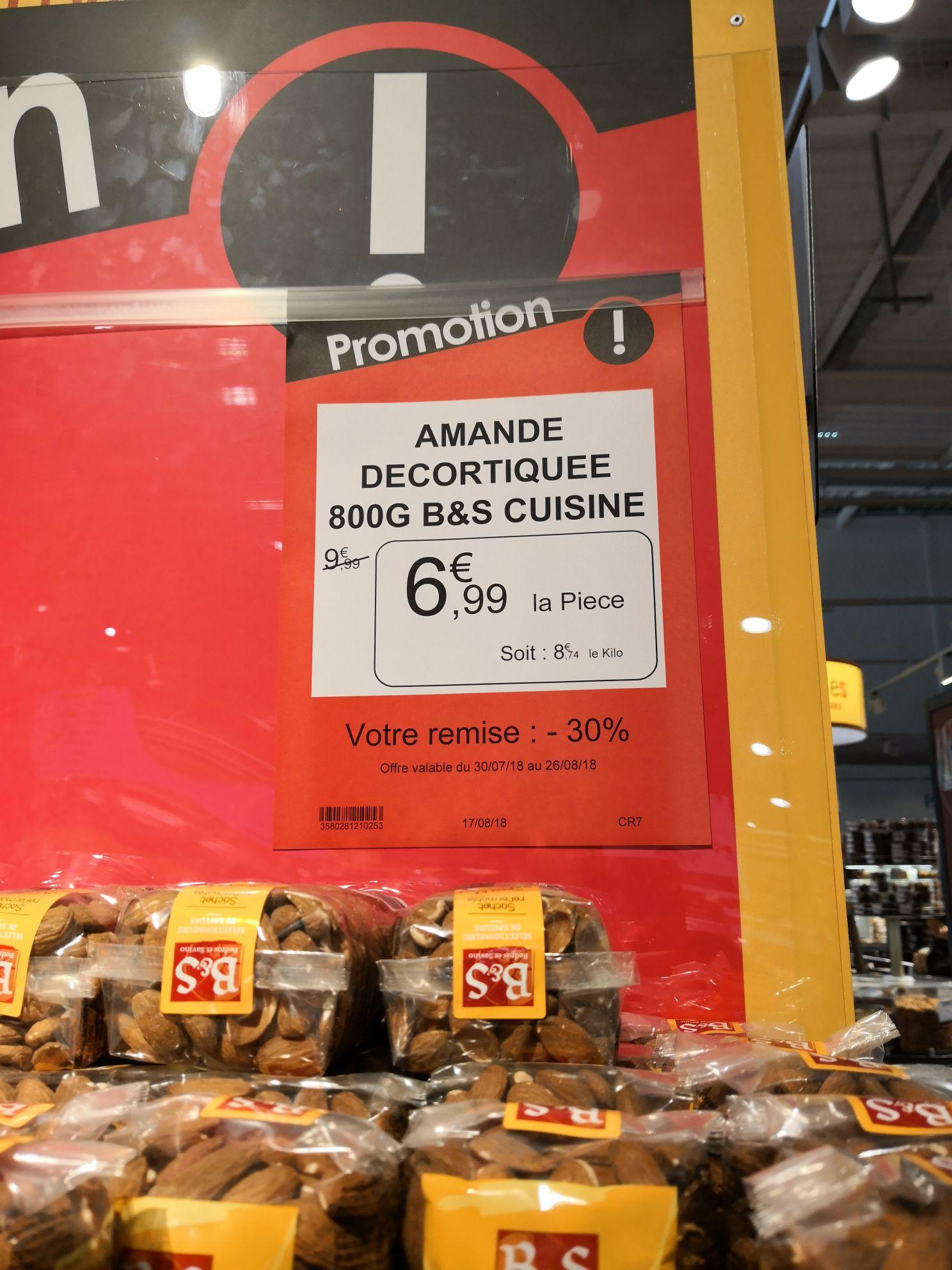 Paquet d'amandes décortiqués (800g) - Croissy-Beaubourg (77)