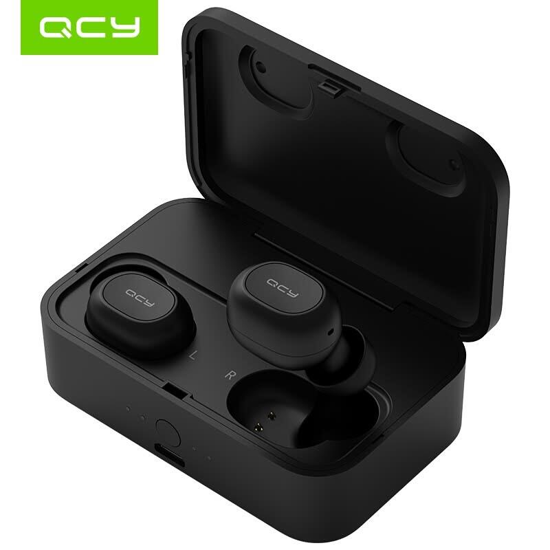 Écouteurs sans-fil QCY T1 - Bluetoth 5.0, Noir