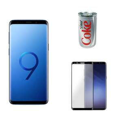 "Smartphone 5.8"" Samsung Galaxy S9 - 64 Go, Bleu Corail + Batterie de secours + Verre trempé (Via ODR de 100€)"