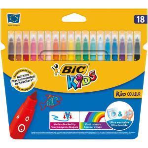 Sélection de produits Bic en Promotion - Ex: Lot de 18 Feutres de Coloriage Bic Kids (Via Carte de Fidélité + BDR)