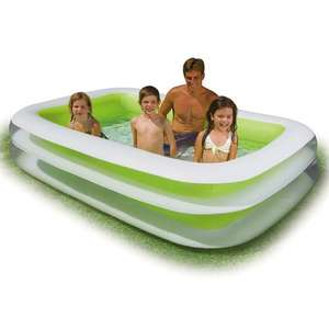 Piscine gonflable Intex Family rectangulaire - dimensions : 262 x 175 x 56 cm