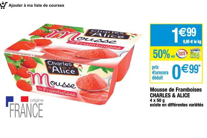Lot de 5 de Mousses de Fruits Charles & Alice gratuites (Via BDR de 2.5€ + Cwallet)