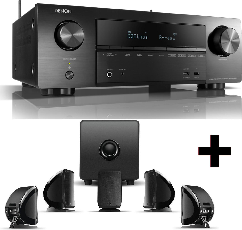 Pack Home Cinéma Noir - Ampli 7.2 Denon AVRX1500H + Kit Enceintes 5.1 Focal Sib & Cub3