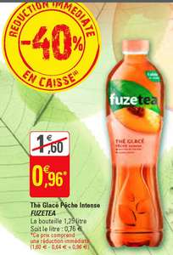 Bouteille de Thé Glacé FuzeTea (Variétés au choix) - 1.25L (Via BDR)