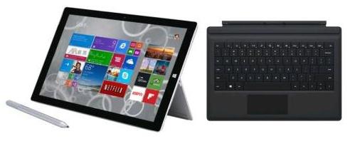 """Tablette 12"""" Microsoft Surface Pro 3 - 128 Go + Clavier Rétroéclairé Microsoft (+150€ en cartes cadeaux)"""
