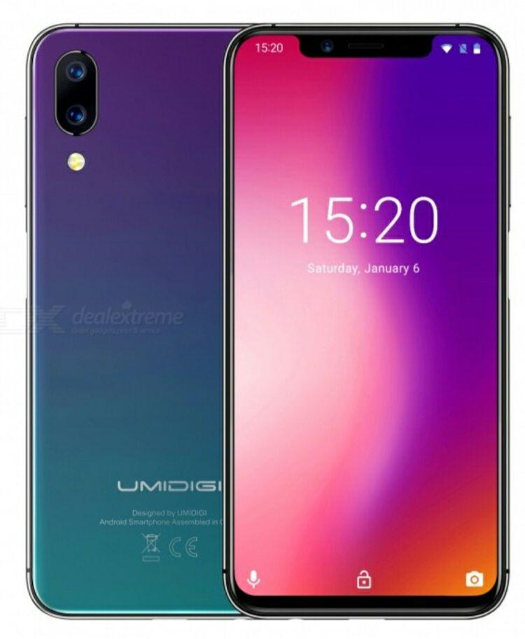 """Smartphone 5.9"""" Umidigi One pro - mtk6763, 4 Go de RAM, 64 Go (B20)"""