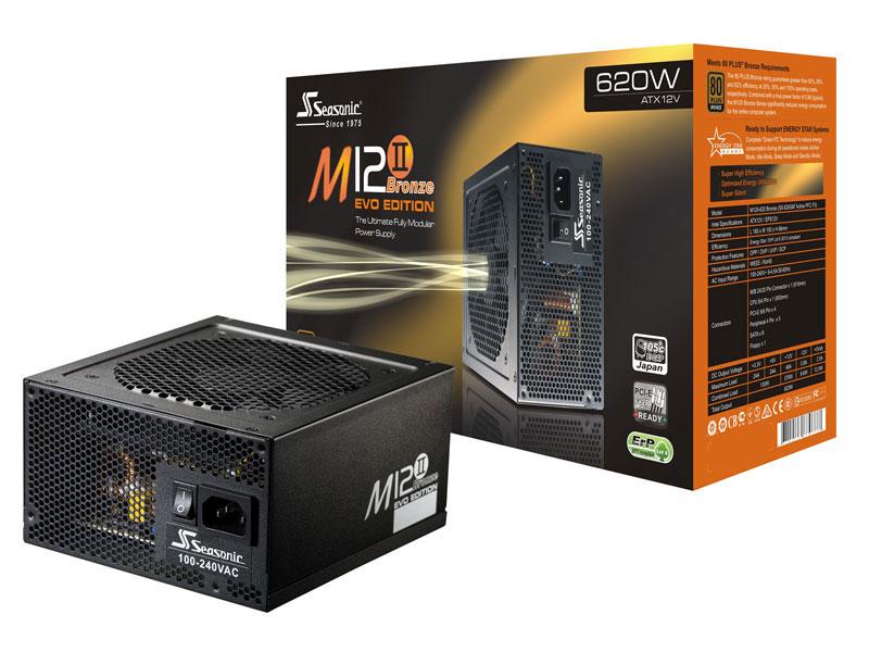 Alimentation PC Modulaire Seasonic M12II-620 Evo, 620W