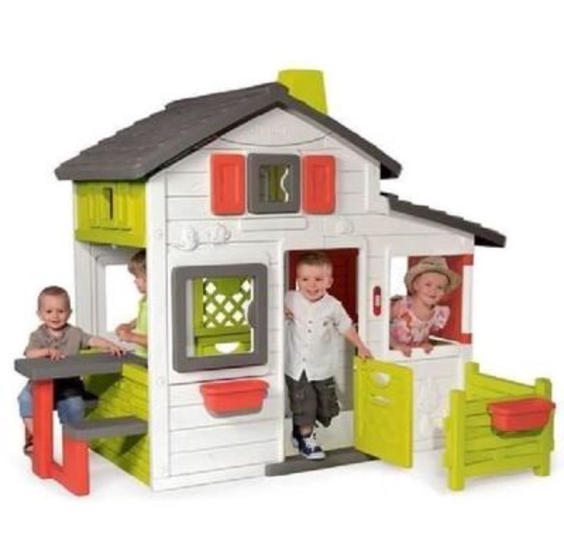 Jouet Cabane enfant Smoby Friends House avec sonnette incluse