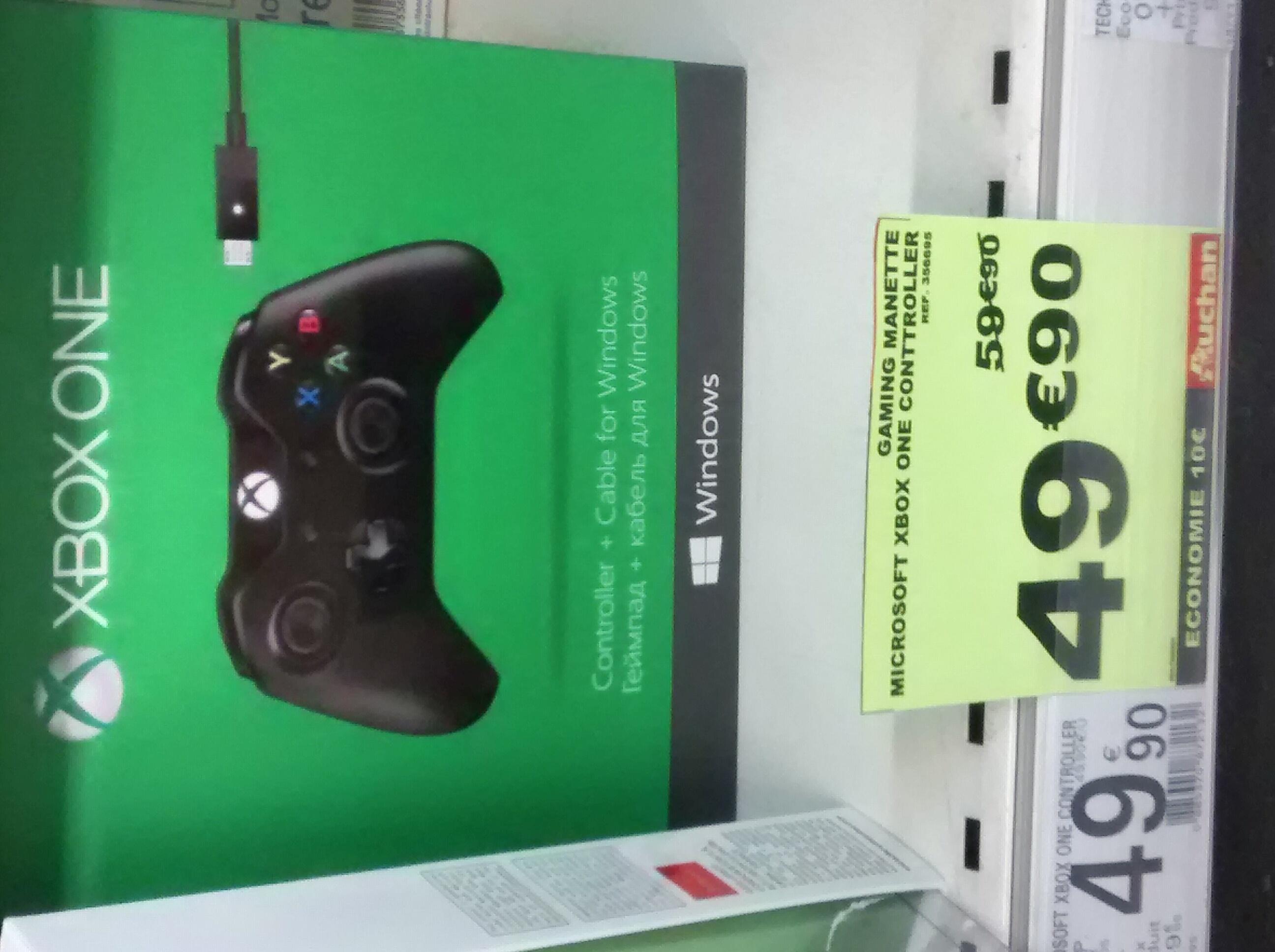Manette sans fil Xbox one + cable pour pc (50% sur la carte de fidélité)