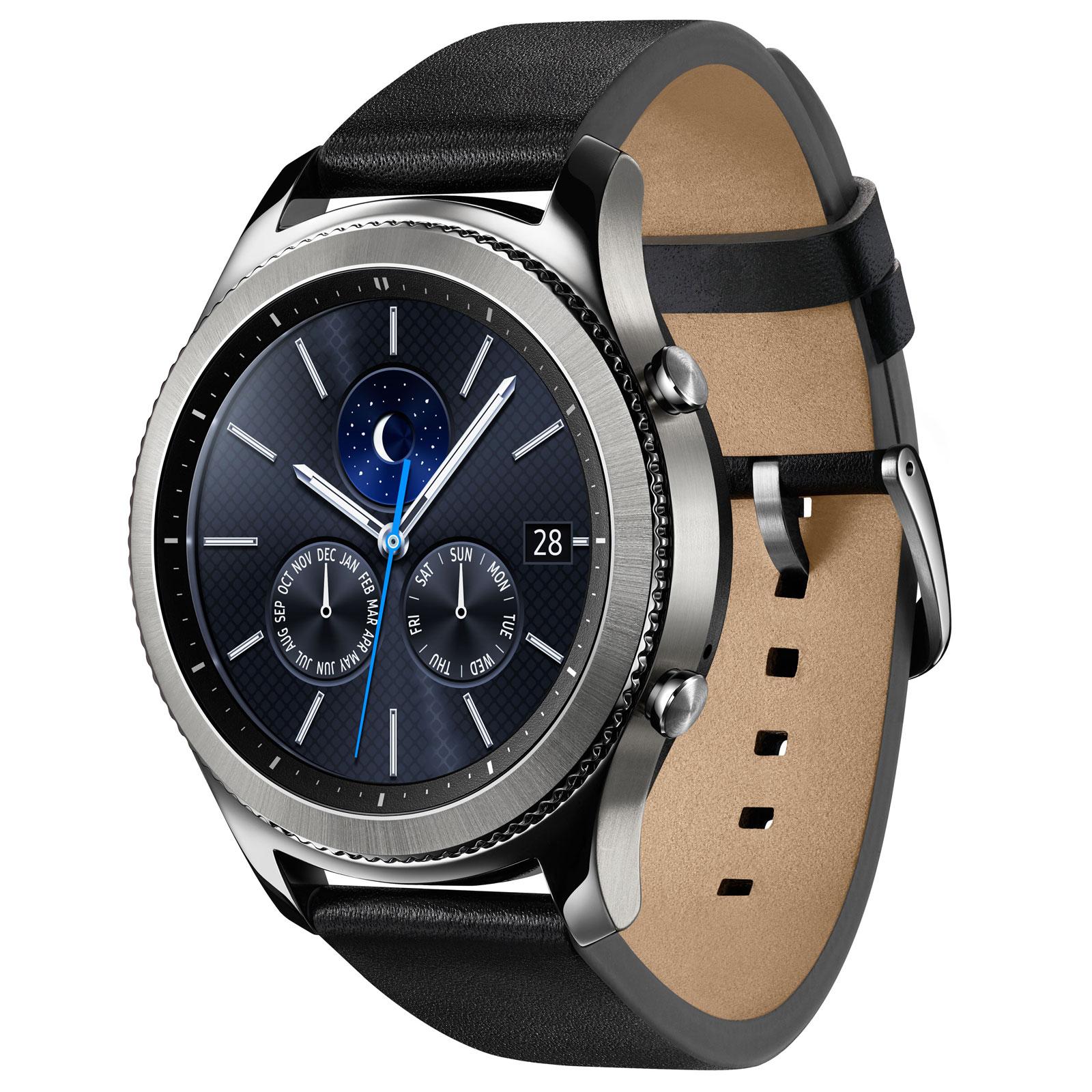 Montre Connectée Samsung Galaxy Gear S3 - Argent + 3 mois d'abonnement Deezer Premium+ (Via ODR de 50€)
