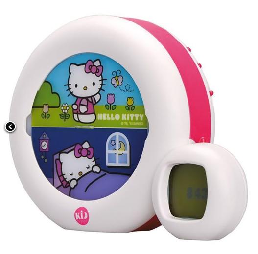 Veilleuse musicale et réveil éducatif Moon Hello Kitty Claessens'kids
