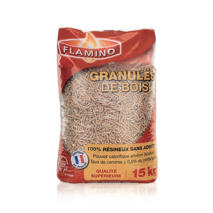 Palette de 72 sacs de pellets Flamino