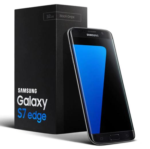 """Smartphone 5.5"""" Samsung Galaxy S7 Edge reconditionné - 32 Go, Noir (G935V)"""