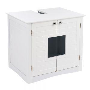 maison de toilette pour chat meuble sous lavabo. Black Bedroom Furniture Sets. Home Design Ideas