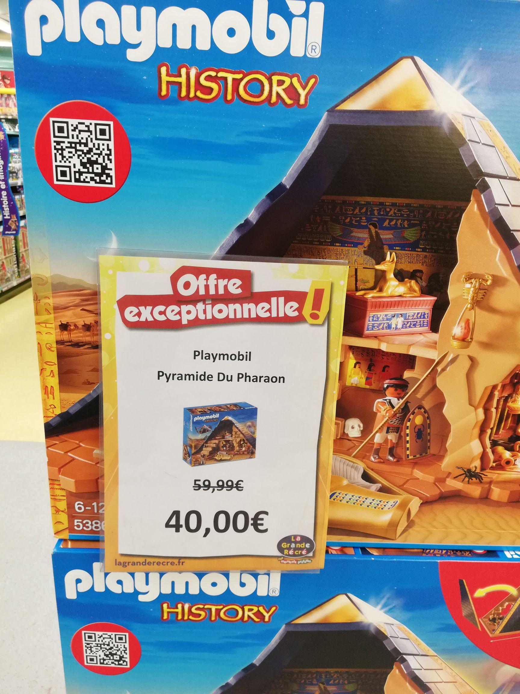 Jouet Playmobil Histoire Pyramide du pharaon n°5386  - La Grande Récré Rosny 2 (93)