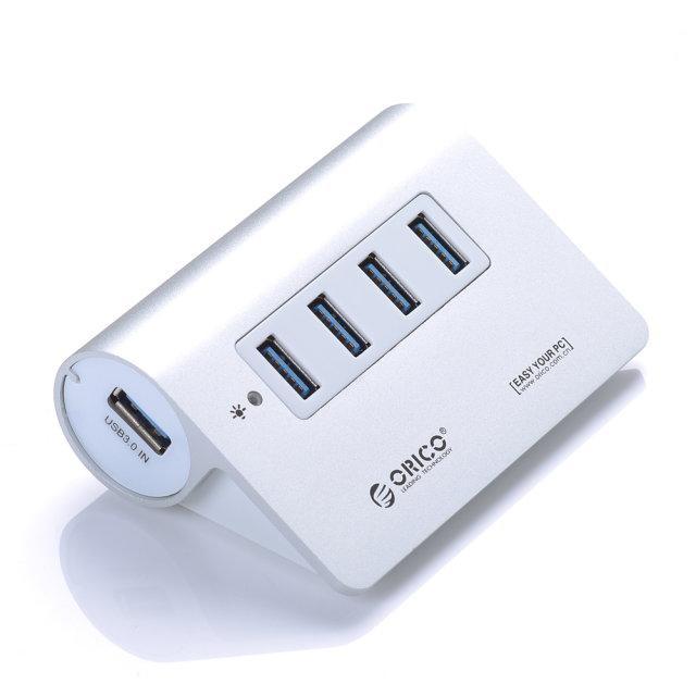 Hub USB 3.0 Orico en aluminium (PC et Mac) - 4 Ports