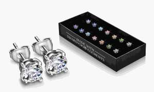 Coffret de 7 paires de boucles d'oreilles The Gemseller ornées de cristaux Swarovski Elements