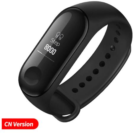"Bracelet connecté Xiaomi Mi Band 3 - Ecran OLED 0.78"", Bluetooth 4.2 (Noir)"