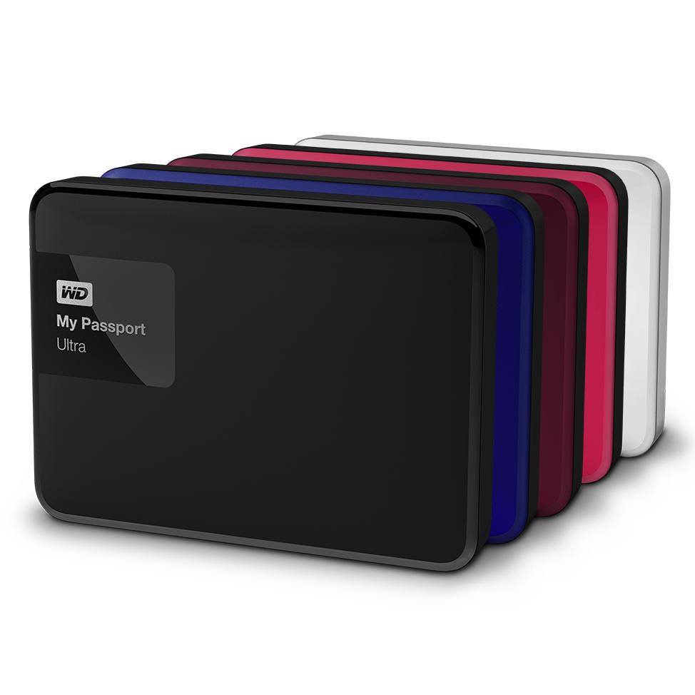Disque dur externe MyPasseport Ultra - 1.5To, Noir (Reconditionné)