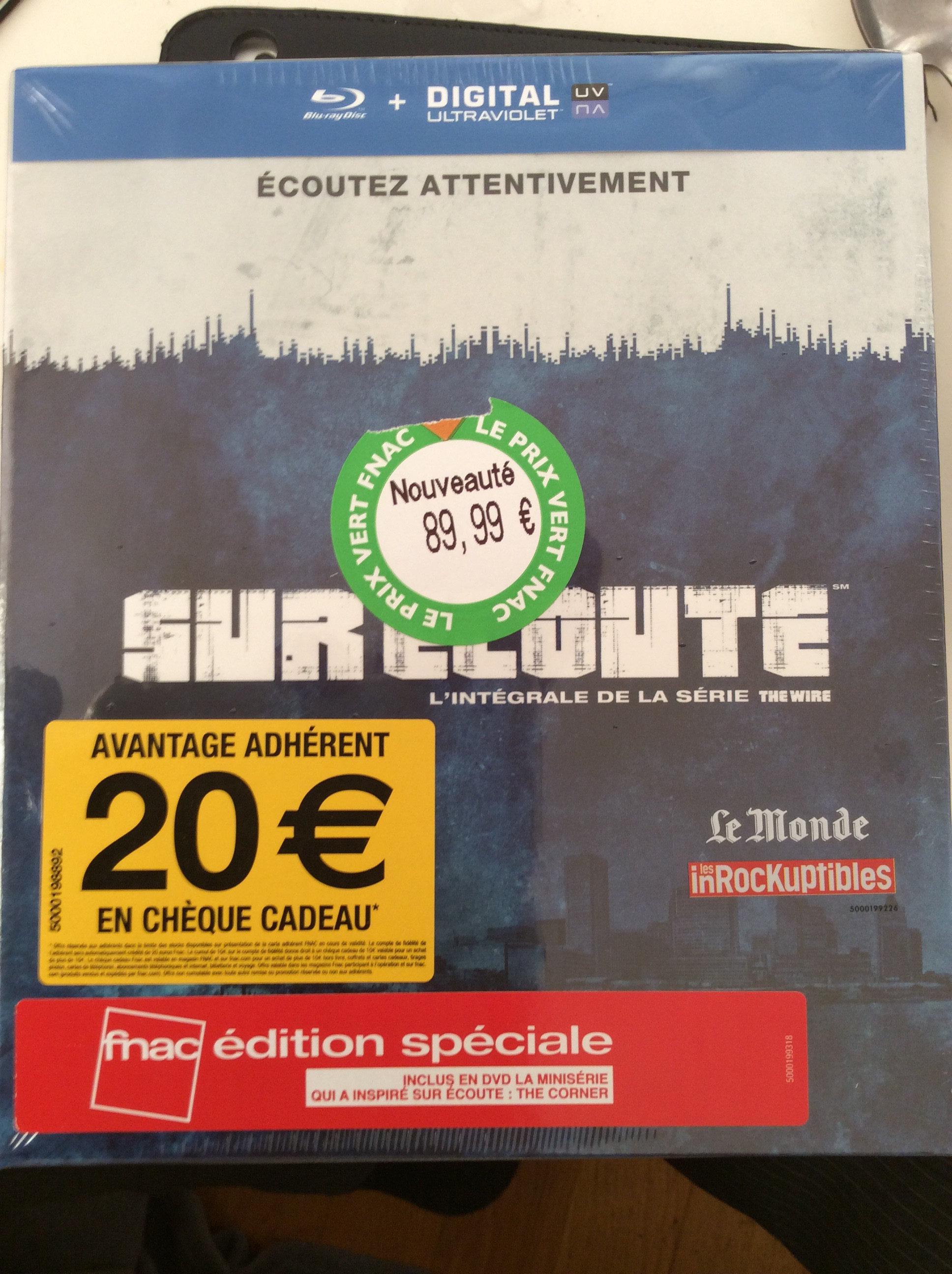 [Adhérents] Coffret Blu-ray The Wire / Sur Ecoute - L'intégrale des saisons 1 à 5 + 20€ en chèque cadeau
