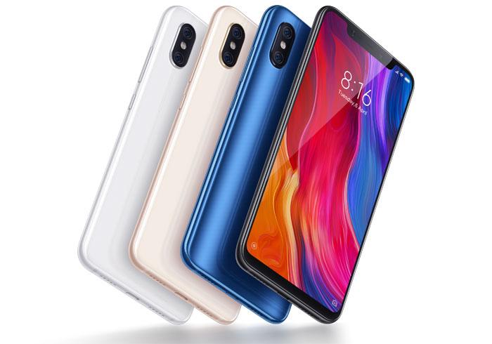"""Smartphone 6.21"""" Xiaomi Mi8 - Ecran AMOLED, SnapDragon 845, 6 Go de RAM, 128Go (ou 64Go), Noir ou Bleu"""