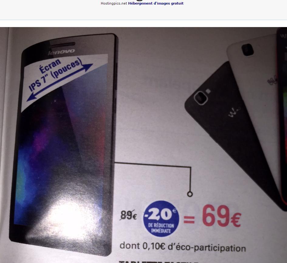 """Tablette 7"""" Lenovo A7-10 (ODR 30€)"""