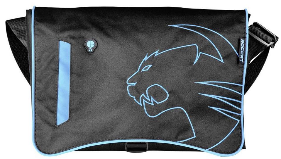 """Sacoche nylon Roccat Into pour PC portable 15 / 17"""" - noir et bleu"""