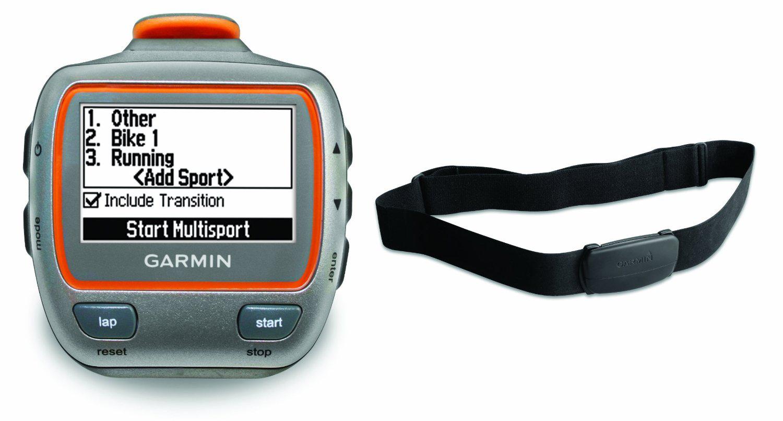 Montre GPS Garmin Forerunner 310XT avec ceinture cardio - Orange/Gris
