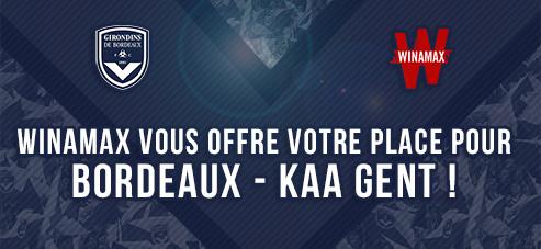 [Nouveaux clients] 2 Places de football pour Bordeaux- La Gantoise gratuite pour toute nouvelle inscription