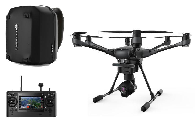 Drone Yuneec Typhoon H PRO / 2 batteries, sac, ST16, RealSense+