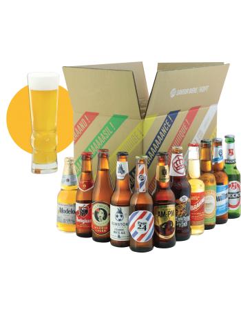 Pack de 11 bières du monde et 1 verre dès 75€ d'achat sur le site