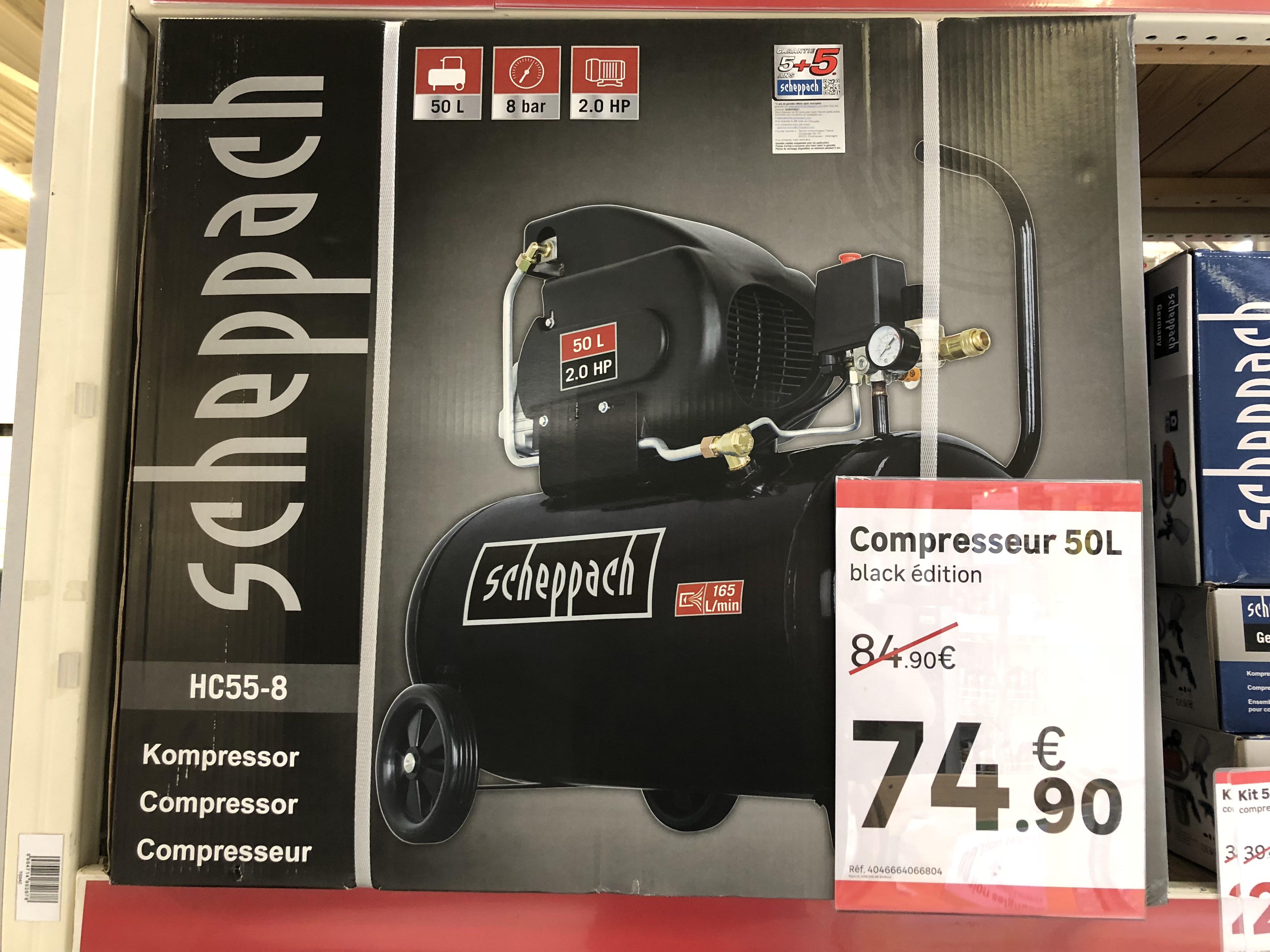 Compresseur 50L Scheppach Black Édition - Chelles (77)