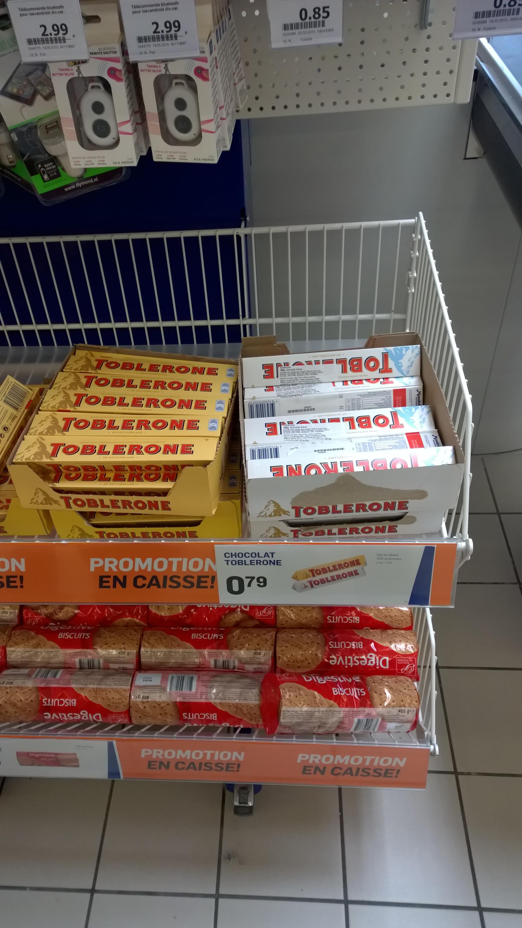 plaquette de chocolat toblerone 100g