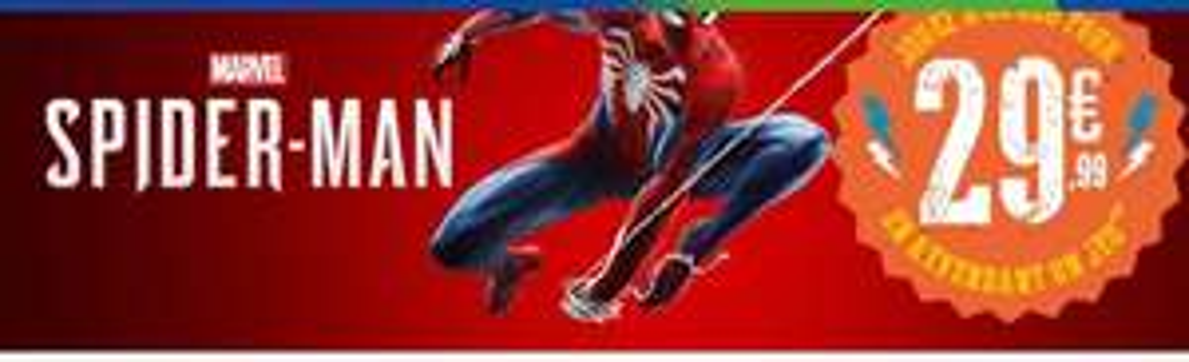 Jeu Spiderman sur PS4 via reprise d'un de vos anciens jeux parmi une sélection