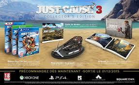 Séléction de Coffrets Collectors en promotion - Ex : Just Cause 3 - Edition Collector
