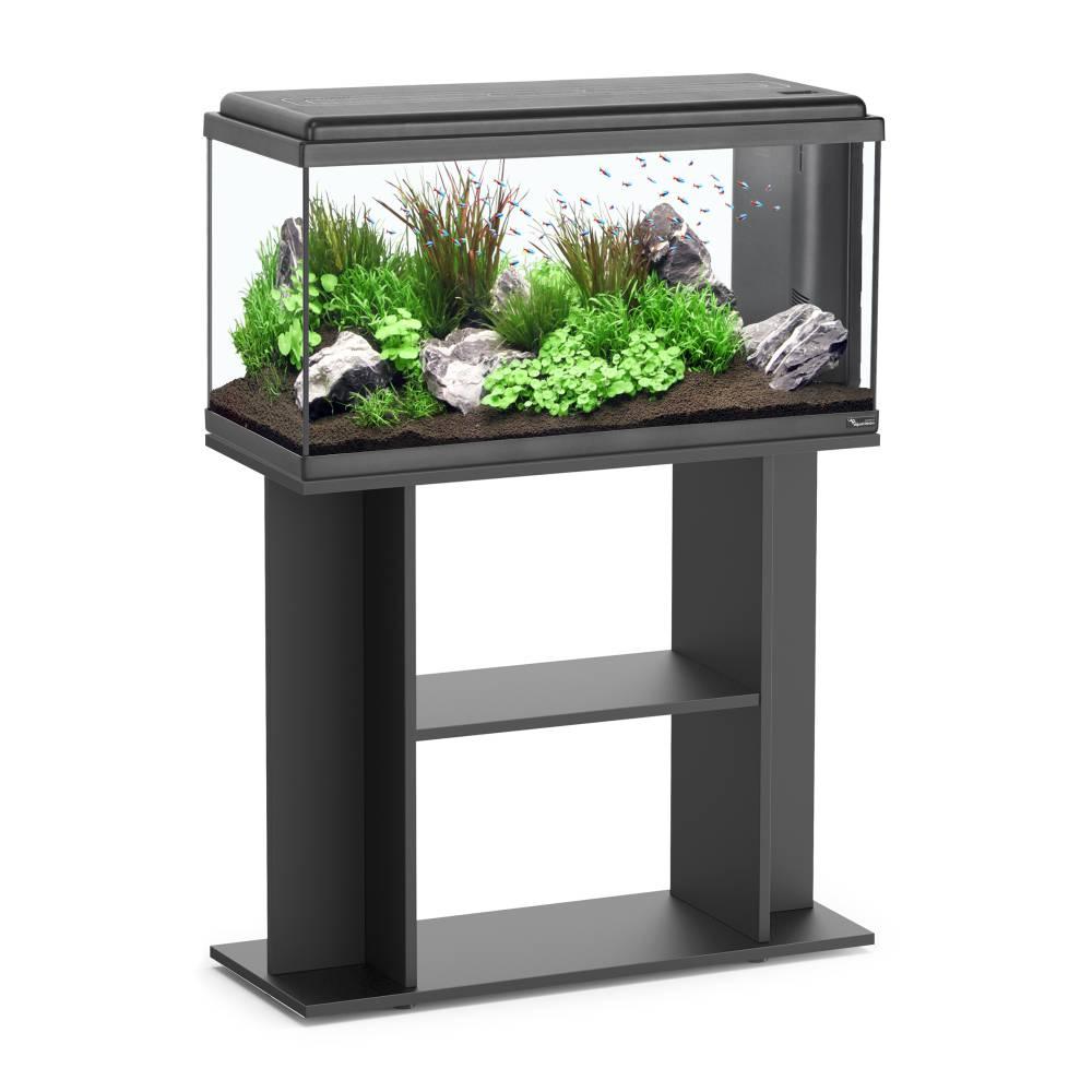 Aquarium 80 + meuble - 96L, Noir