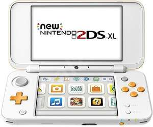 Console portable New Nintendo 2DS XL - Blanche et Orange