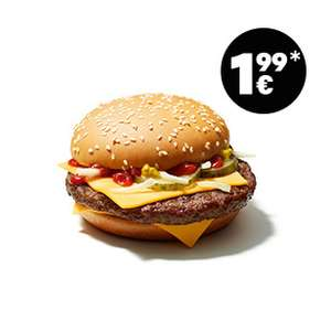 Royal Cheese ou Mc Wrap Chicken Sweet Chili à 1,99€ (Frontaliers Allemagne)