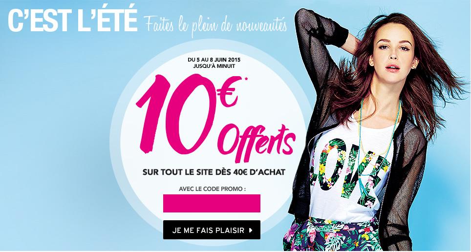 10€ de réduction dès 40€ d'achat sur tout le site