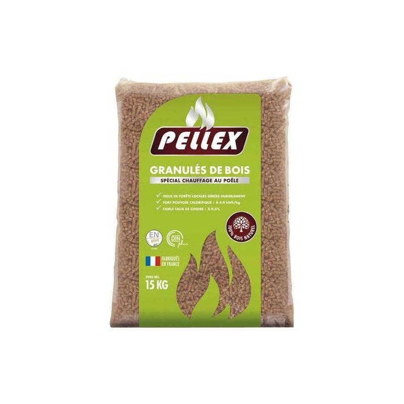 Palette de 72 sacs de 15 kg de granulés de bois Pellex (via 57.45€ sur la carte)