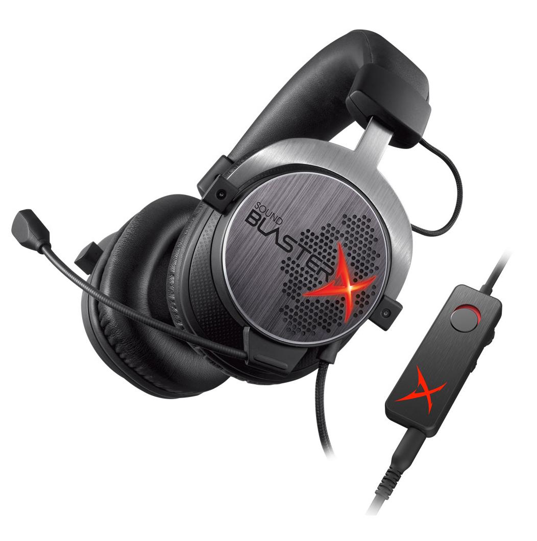 Micro-casque Sound BlasterX H7 Tournament Edition + Creative Metallix
