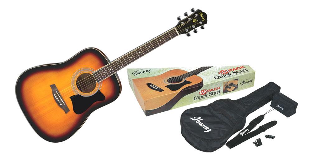 Pack Guitare Folk Ibanez V50NJP-VS + Kit d'accessoires