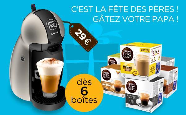 Machine à Café Piccolo Titanium avec 6 boites Dolce Gusto