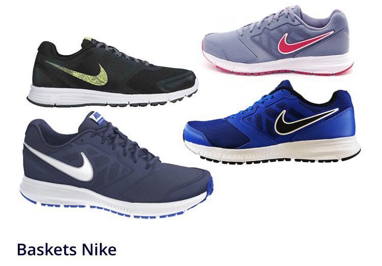 Baskets Nike Downshifter ou Nike Revolution - Plusieurs couleurs